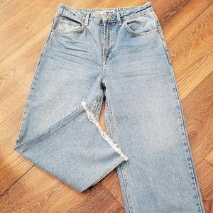 TopShop Moto Wide Leg Crop Jean's Size 28